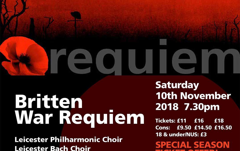 Benjamin Britten: War Requiem at De Montfort Hall, Leicester.